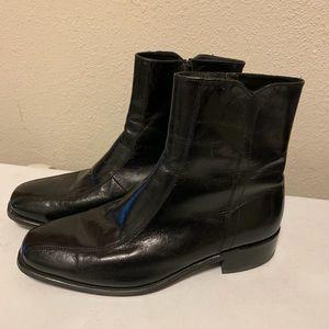 Vintage Florsheim Men's Black Leather Beatle Boots